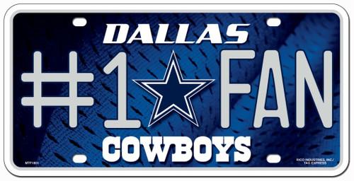 Dallas Cowboys License Plate #1 Fan