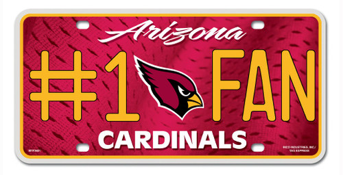 Arizona Cardinals License Plate #1 Fan - Special Order