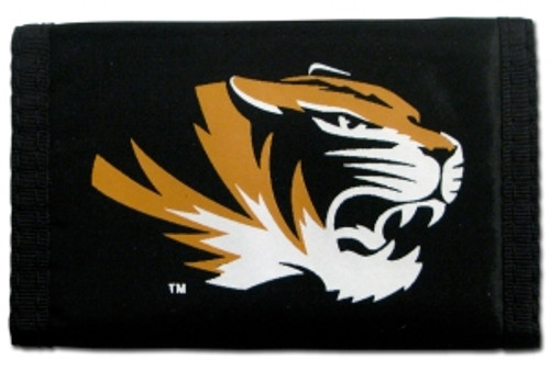 Missouri Tigers Wallet Nylon Trifold - Special Order