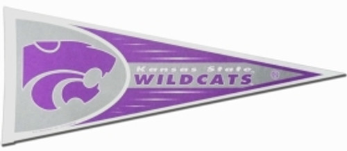 Kansas State Wildcats Pennant 12x30 Carded Rico