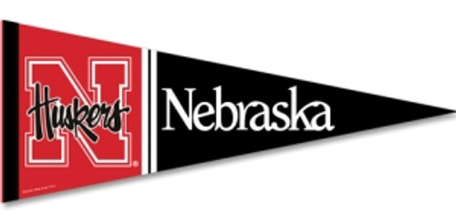 Nebraska Cornhuskers Pennant 12x30 Premium Style