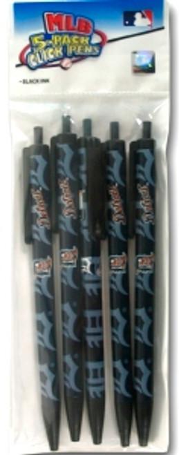 Detroit Tigers Click Pens - 5 Pack