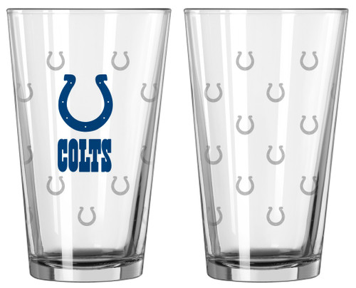 Indianapolis Colts Satin Etch Pint Glass Set