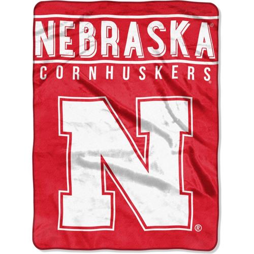 Nebraska Cornhuskers Blanket 60x80 Raschel Basic Design