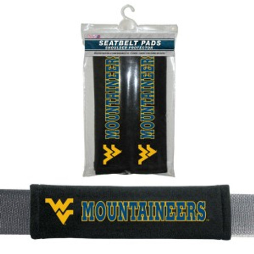 West Virginia Mountaineers Seat Belt Pads CO