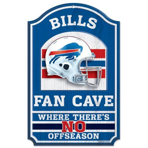 "Buffalo Bills Wood Sign - 11""x17"" Fan Cave Design"