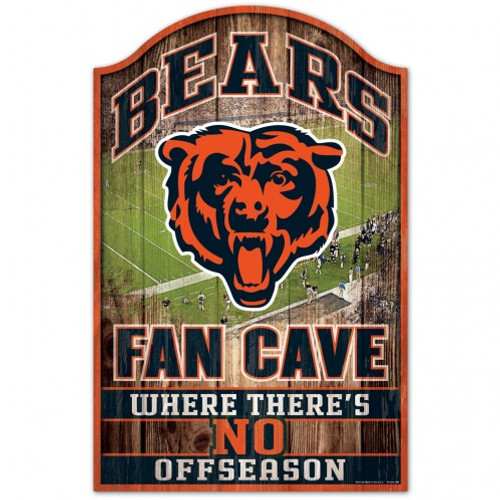 Chicago Bears Sign 11x17 Wood Fan Cave Design