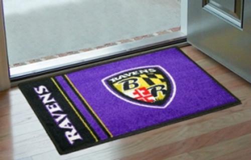 Baltimore Ravens Rug - Starter Style, Logo Design - Special Order
