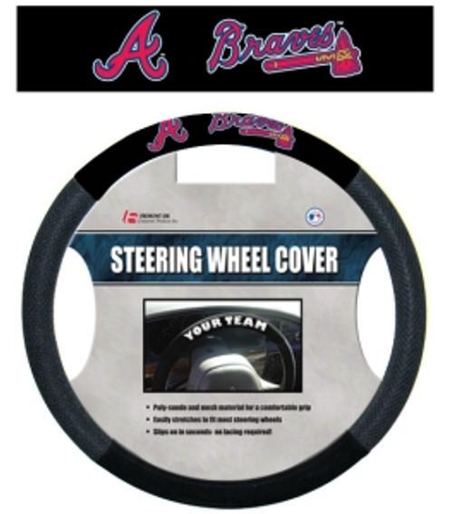 Atlanta Braves Steering Wheel Cover Mesh Style