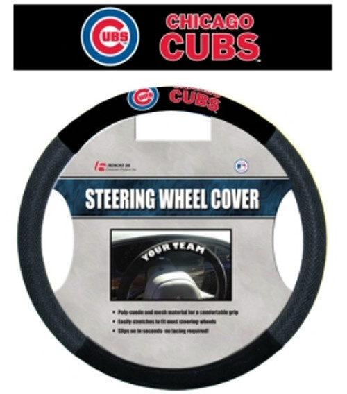 Chicago Cubs Steering Wheel Cover Mesh Style