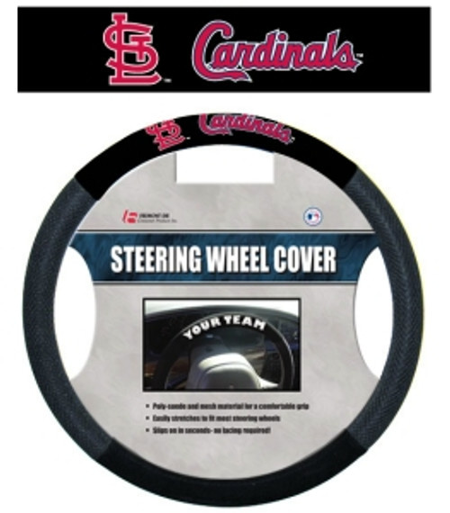 St. Louis Cardinals Steering Wheel Cover Mesh Style CO