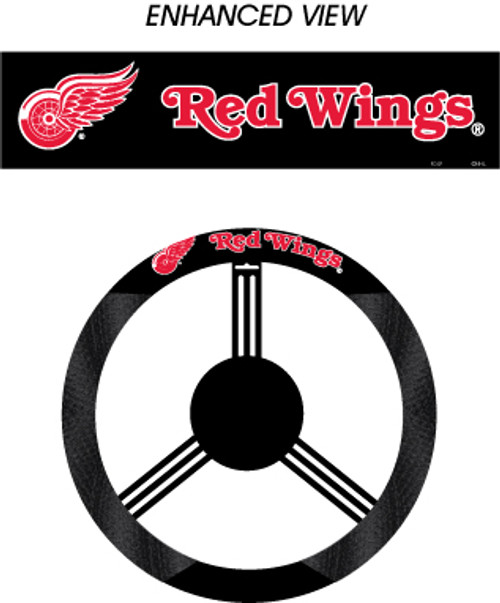 Detroit Red Wings Steering Wheel Cover Mesh Style CO