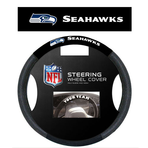 Seattle Seahawks Steering Wheel Cover Mesh Style