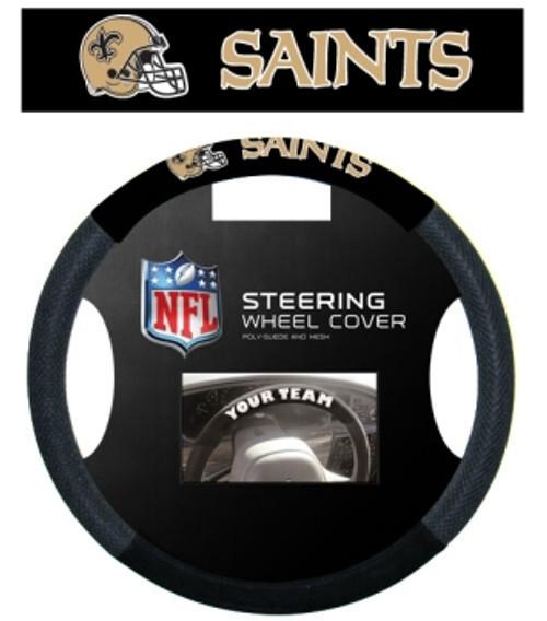 New Orleans Saints Steering Wheel Cover Mesh Style