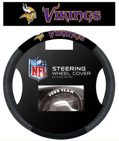 Minnesota Vikings Steering Wheel Cover Mesh Style CO