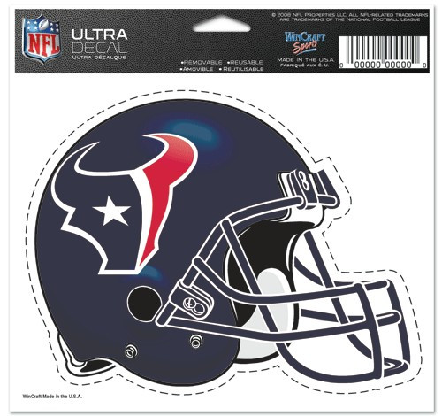 Houston Texans Decal 5x6 Ultra Color