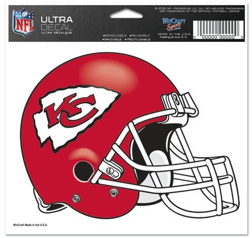 Kansas City Chiefs Decal 5x6 Ultra Color