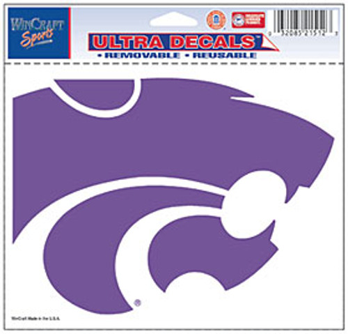 Kansas State Wildcats Decal 5x6 Ultra Color
