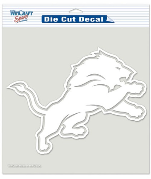 Detroit Lions Decal 8x8 Die Cut White