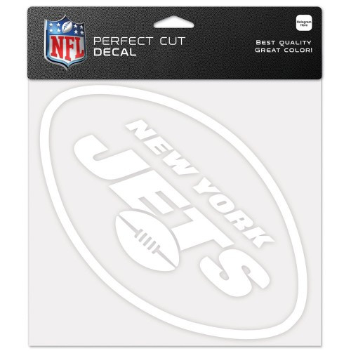 New York Jets Decal 8x8 Die Cut White