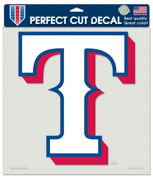Texas Rangers Decal 8x8 Die Cut Color