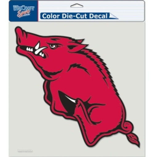 Arkansas Razorbacks Decal 8x8 Die Cut Color