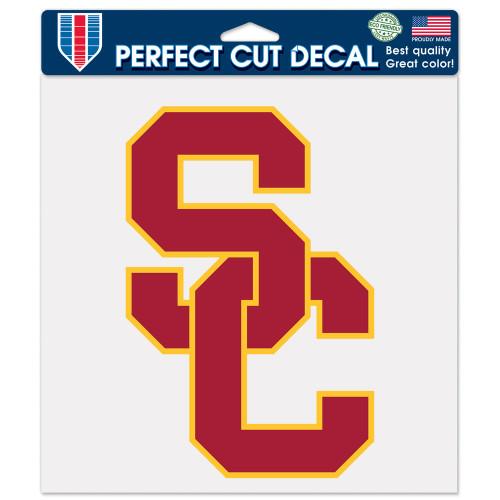 USC Trojans Decal 8x8 Die Cut Color