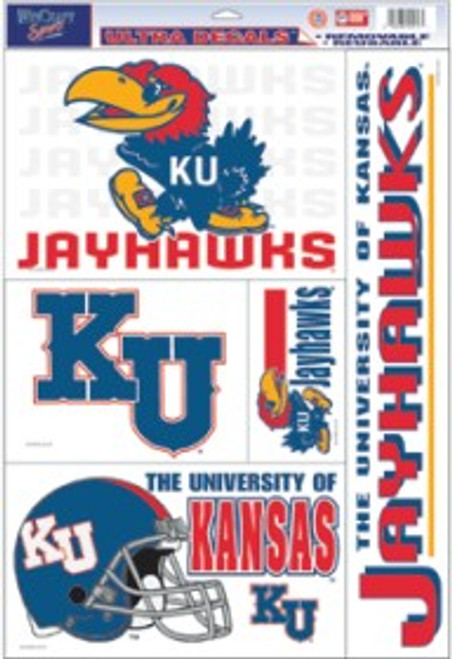 Kansas Jayhawks Decal 11x17 Ultra - Special Order