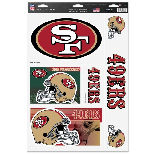 San Francisco 49ers Decal 11x17 Ultra