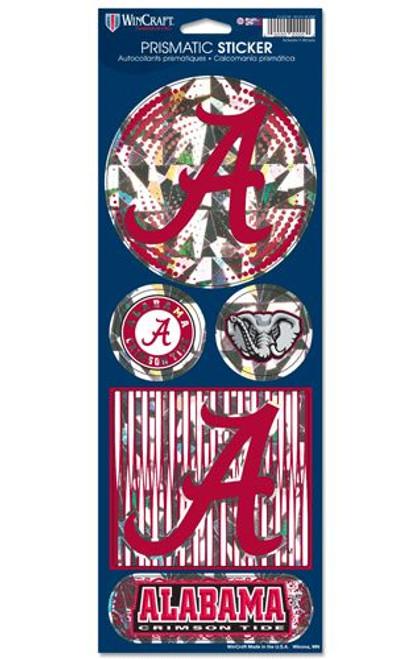 Alabama Crimson Tide Stickers Prismatic