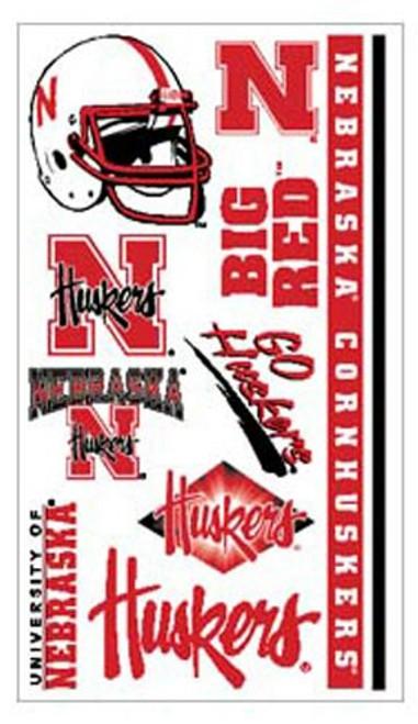 Nebraska Cornhuskers  Temporary Tattoos