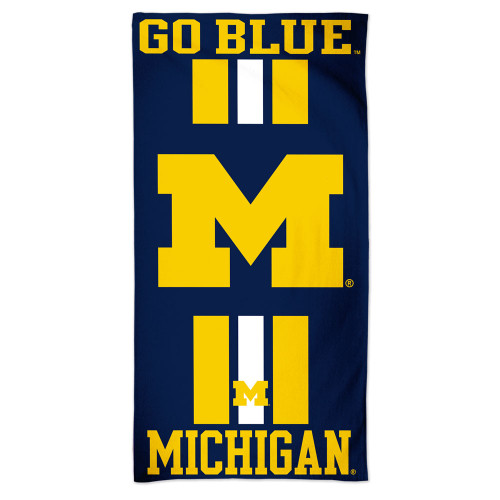 Michigan Wolverines Towel 30x60 Beach Style