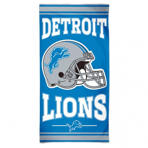 Detroit Lions Towel 30x60 Beach Style