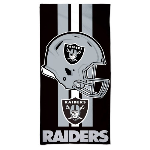 Las Vegas Raiders Towel 30x60 Beach Style