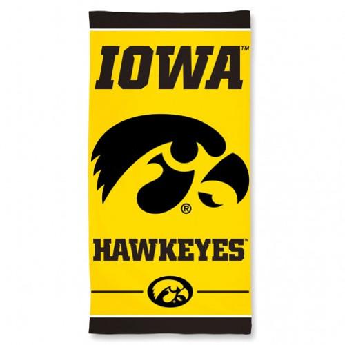 Iowa Hawkeyes Towel 30x60 Beach Style