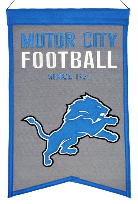 Detroit Lions Banner 14x22 Wool Franchise