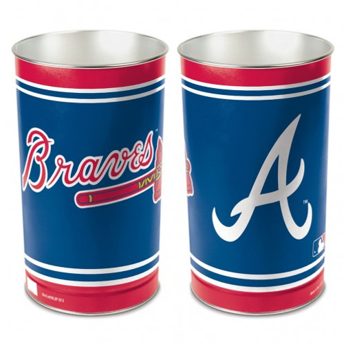 Atlanta Braves Wastebasket 15 Inch
