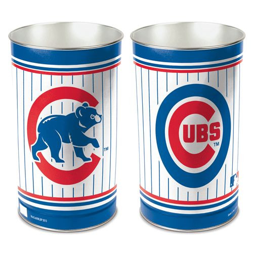 Chicago Cubs Wastebasket 15 Inch