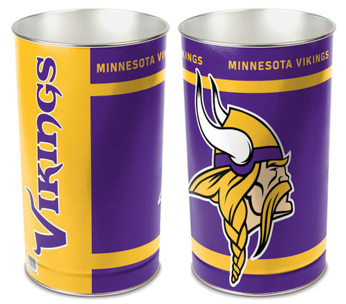 Minnesota Vikings Wastebasket 15 Inch