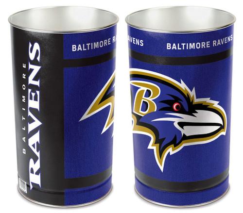 Baltimore Ravens Wastebasket 15 Inch