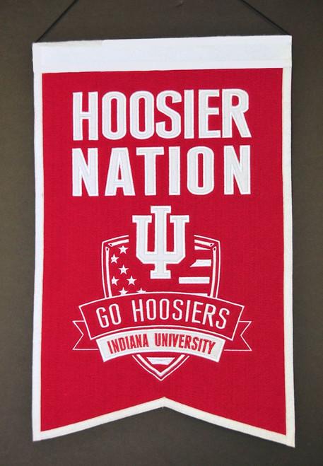 Indiana Hoosiers Banner 14x22 Wool Nations