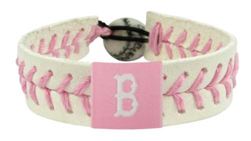 Boston Red Sox Bracelet Baseball Pink