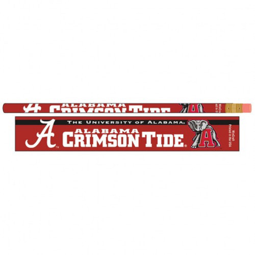 Alabama Crimson Tide Pencil 6 Pack