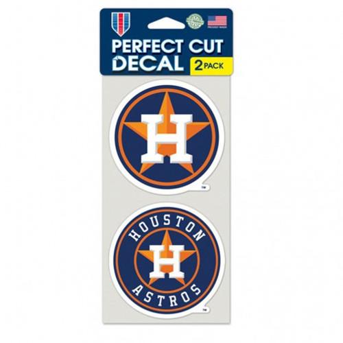 Houston Astros Decal 4x4 Die Cut Set of 2