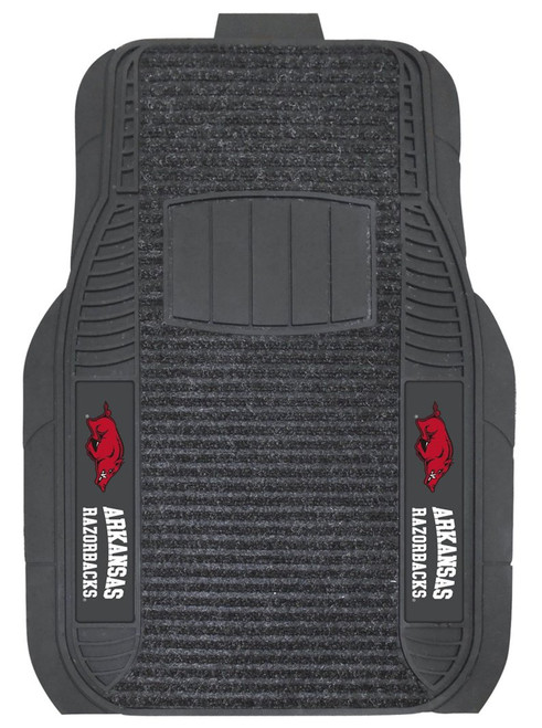 Arkansas Razorbacks Car Mats - Deluxe Set - Special Order