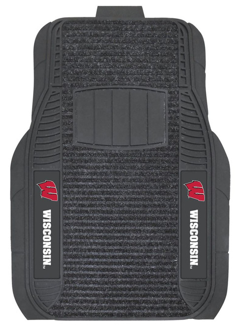 Wisconsin Badgers Car Mats - Deluxe Set - Special Order