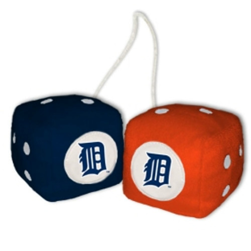 Detroit Tigers Fuzzy Dice CO