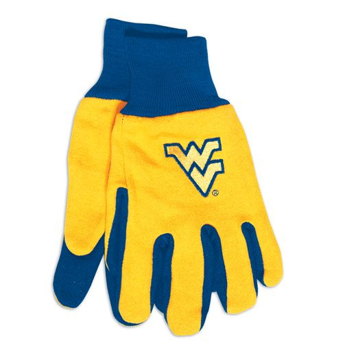West Virginia Mountaineers Two Tone Gloves - Adult - Special Order