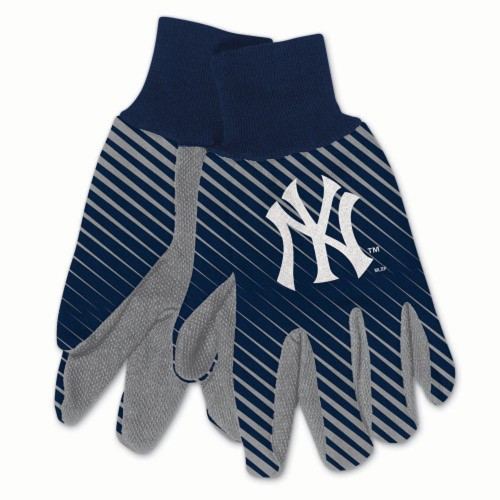 New York Yankees Gloves Two Tone Style Adult Size Size