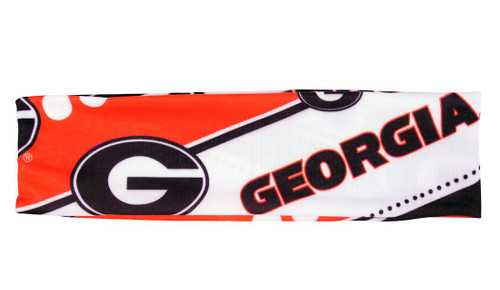 Georgia Bulldogs Stretch Patterned Headband Special Order